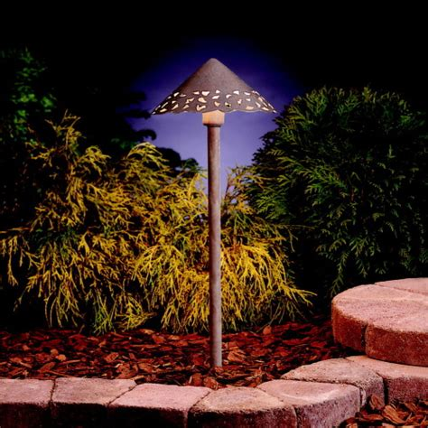 decorative landscape lighting decorative hammered roof led path light landscape