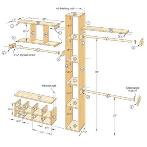 Closet Building Plans by Woodwork Closet Organizer Plans Pdf Plans