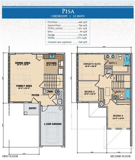 House Plans For Florida Pisa 3 Bedroom Homes Tuscany Preserve Living