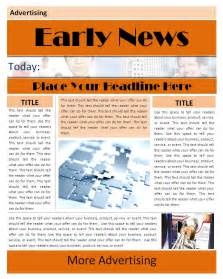 free newspaper templates for microsoft word free newspaper template for word 2010