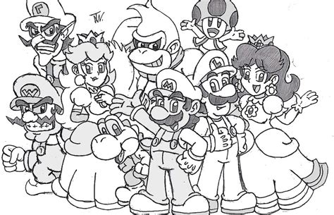 Bowser Coloring Pages Mario And Luigi Bowser S Inside Mario World Coloring Pages
