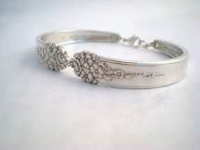 how to make jewelry from silverware moss 1949 vintage spoon bracelet upcycled silverplate