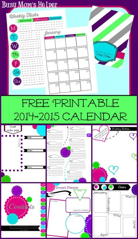 free printable daily organizer 2015 9 best images of 2015 printable organizer pages 2015