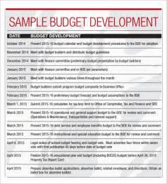 Sample Business Budget Template Sample Budget Calendar 4 Download For Pdf