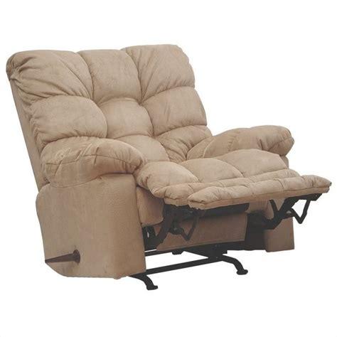 catnapper magnum chaise oversized rocker recliner chair  hazelnut