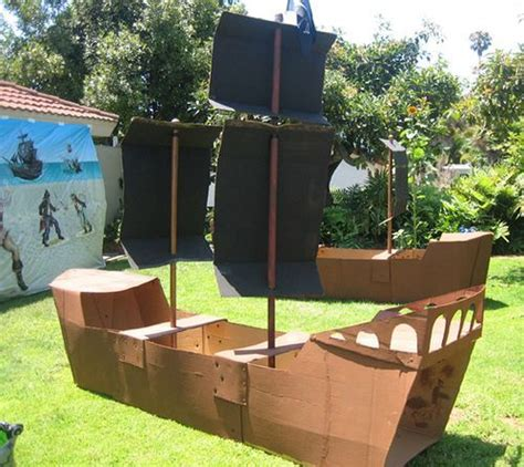 Cardboard Pirate Ship Template by Build Pirate Ship Out Cardboard Woodworking Projects Plans