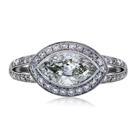 platinum 1 49 carat marquise cut engagement ring boca raton