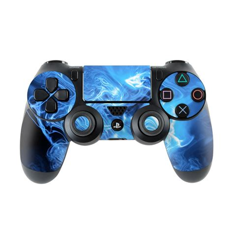 sony ps4 controller skin blue quantum waves by gaming