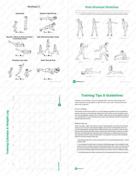 burning metabolic master bodyweight hiit workout pack