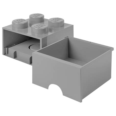 Sale Storage Brick 2 Knobs Lego lego inredning lego brick drawer 4 knobs grey