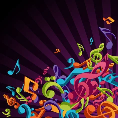 design background music music 3d colorful music vector background free vector