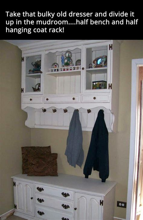 repurpose old china cabinet repurpose dining room china cabinet into hallway entry