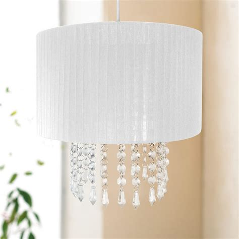 table l shade with droplets easy fit chandelier light l shade fitting with acrylic
