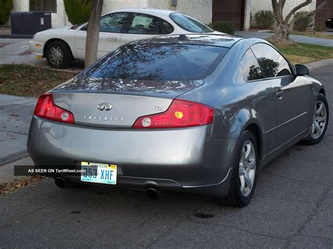 infiniti g35 silver 2004 infiniti g35 silver and black coupe 2 door 3 5l