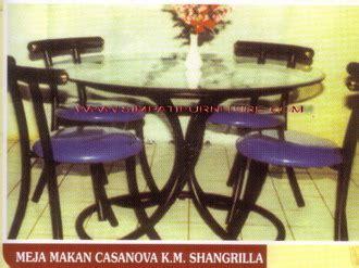 Meja Makan Nagoya meja makan besi kaca minimalis murah
