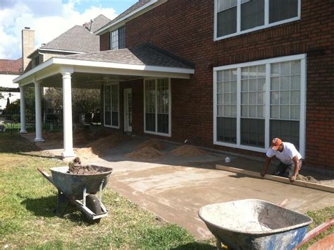 Paver Floor Patio Cover in Houston   HHI Patio Covers