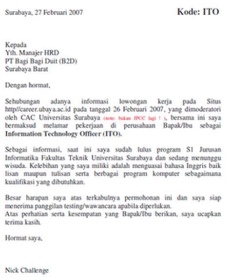 contoh surat lamaran kerja waiter bahasa inggris wisata dan info sumbar