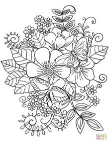 free coloring pages of flowers and butterflies butterflies on flowers coloring page free printable