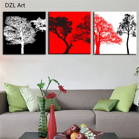 aliexpress com buy unframed 3 sets abstract tree modern canvas wall art home wall decor hd aliexpress com buy unframed 3 sets canvas painting red