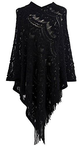 Lace Swetaer Abu qzunique s sweater cape pullover lace shawl tassles knit poncho like wrap buy in