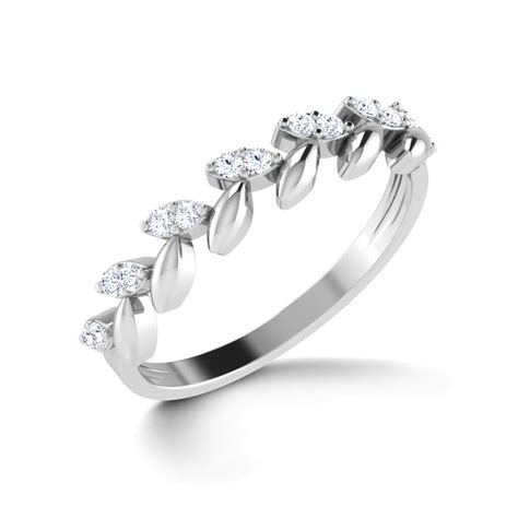 Platin Ring by Floral Elegance Platinum Ring Jewellery India