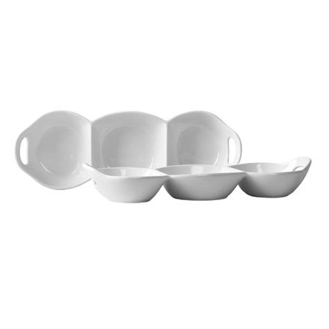 3 section serving dish tabletops gallery blanc de blanc 3 section condiment