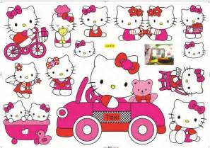 Free shipping kids baby favorite room decoration cute hellokitty paper
