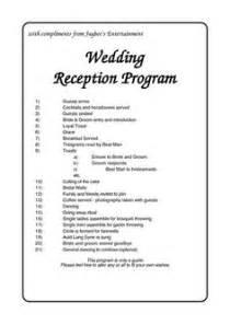 sle wedding programs outline wedding reception program outline agenda wedding reception program outline sle wedding