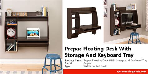 prepac wall mounted floating desk with storage in black prepac floating desk with storage and keyboard tray in
