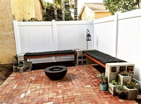 cinder block bench diy diy cinder block bench mince republic