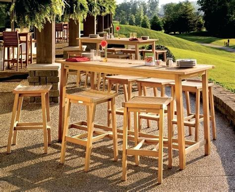bar height patio table plans outdoor bar height table and chairs dining tables patio