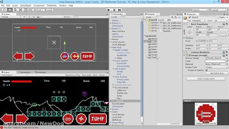 tutorial unity touch adding touch screen controls unity 2d platformer