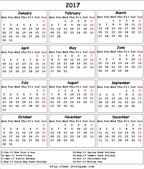 printable calendar 2017 uk 2017 calendar uk weekly calendar template