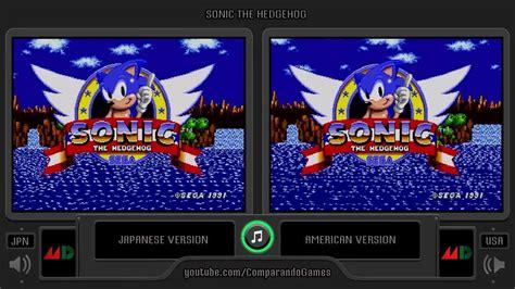 sonic heroes sega genesis regional differences 06 sonic the hedgehog usa vs jpn