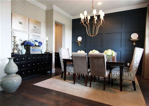 dining room accent wall dining room black accent wall from navy to black walls