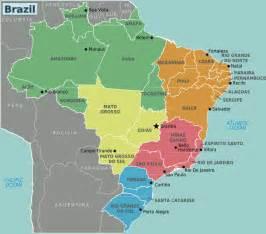 Map Of Brazil States by Brazil Regions Mapsof Net