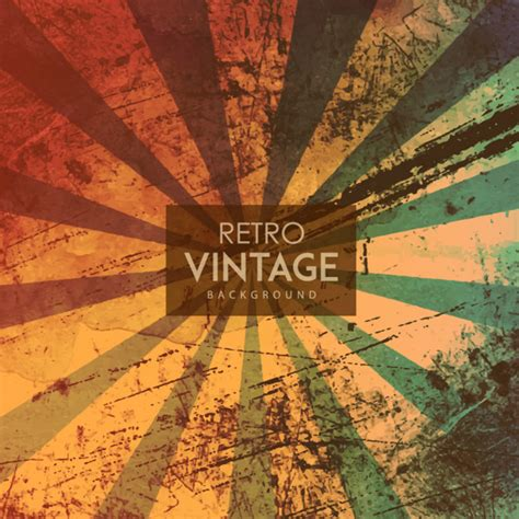 watercolor retro vintage background vector free