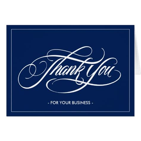 Personalized Thank You Cards For Business personalized thank you for your business cards zazzle
