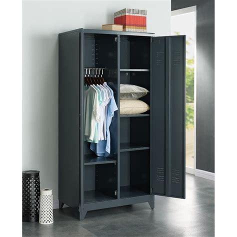 armoire métal pas cher armoire de chambre metallique