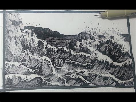 boat crashing drawing drawn sky ink pencil and in color drawn sky ink