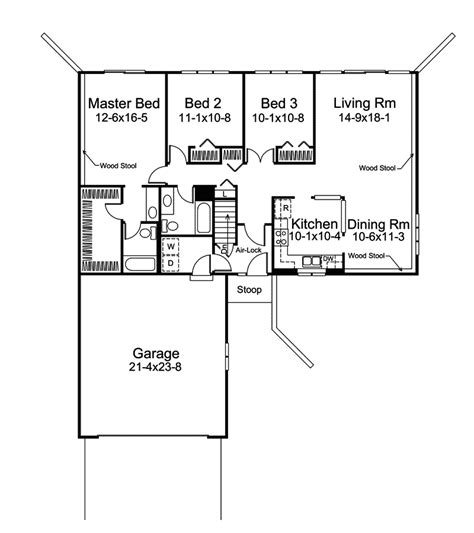 house plans and more crestbrook berm ranch home plan 008d 0023 house plans