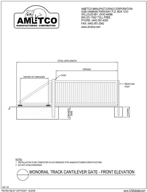 Dumpster Enclosure by Cantilever Gates Ametco Manufacturing