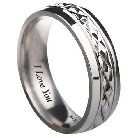 15 collection of engravable titanium wedding bands