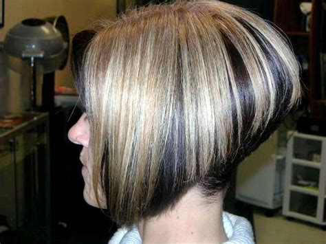 high stacked wedge haircut a line haircut pictures steep a line bob angled high up