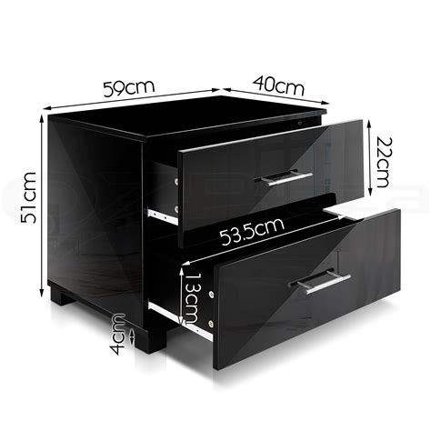 bedside table cabinet high gloss chest 2 drawers l side set of 2 bedside table cabinet high gloss chest two