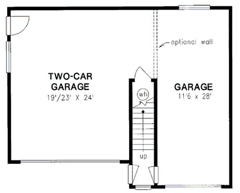 2 car garage size 2 1 car garage dimensions home standard 2 car garage plan 58569 at familyhomeplans com