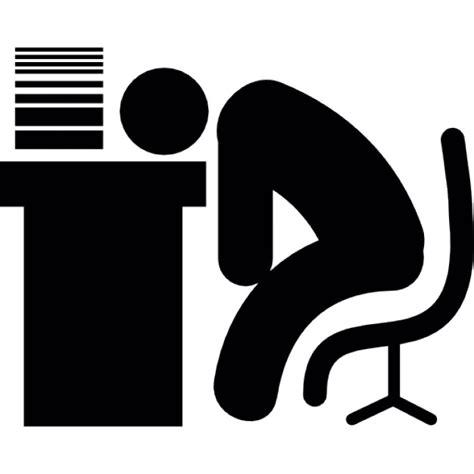 schreibtisch icon człowiek śpi na biurku w stosie dokument 243 w ikony darmowe