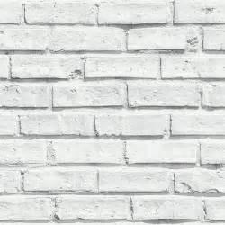 arthouse vip white brick wall photographic stone wallpaper 623004