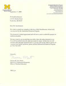 dr karl stockhausen donation letters
