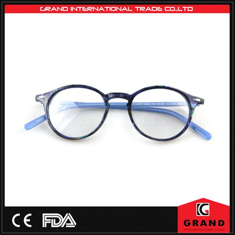 blue plastic eyeglasses with clip on custom made eyeglass